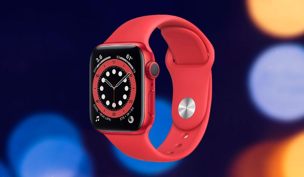 The lovely, highly versatile Apple Watch Series 6 is down to just $249 in the Product (RED) style. (Photo: Apple)