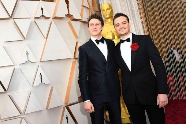 PHOTO:George MacKay and Dean-Charles Chapman arrive for the Oscars in Hollywood, Calif., Feb. 9, 2020. (Valerie Macon/AFP/Getty Images)