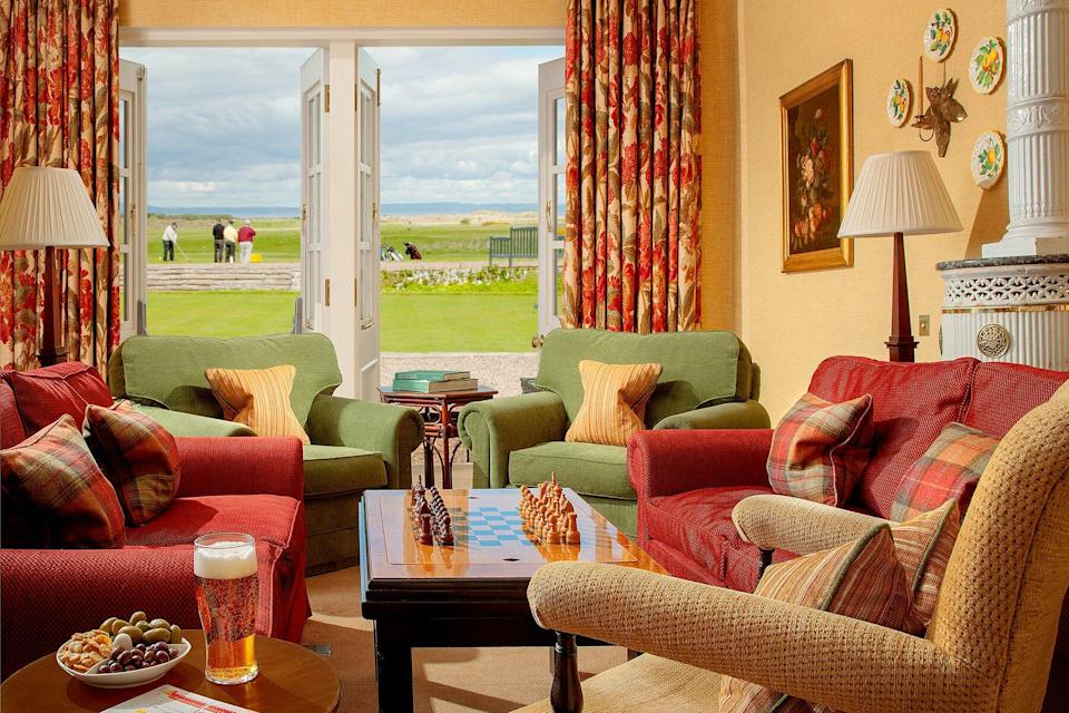View of the golf course from the Greywalls Hotel & Chez Roux Restaurant