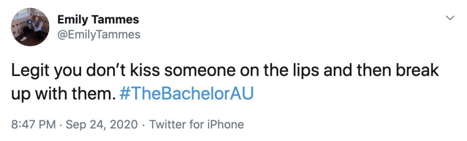 Tweet about The Bachelor