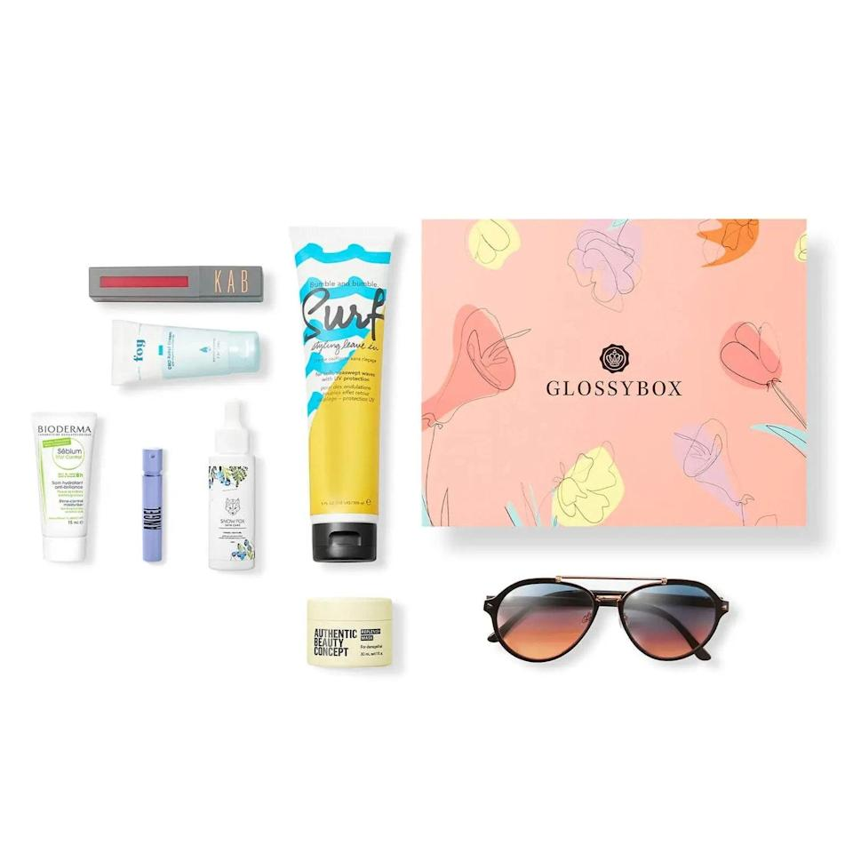 "Manifest your mommy-daughter dates at the Sephoras and Ultas of the world with a subscription to Glossybox. The beauty <a href=""https://www.glamour.com/gallery/best-subscription-boxes-for-women?mbid=synd_yahoo_rss"" rel=""nofollow noopener"" target=""_blank"" data-ylk=""slk:subscription service"" class=""link rapid-noclick-resp"">subscription service</a> sends five full-size beauty products each month, plus insider tips and tricks in a signature pink box. The limited-edition Mother's Day box comes with Bioderma, Velvet Eyewear products, and more and is valued over $215. $35, Glossybox. <a href=""https://www.glossybox.com/gift.list"" rel=""nofollow noopener"" target=""_blank"" data-ylk=""slk:Get it now!"" class=""link rapid-noclick-resp"">Get it now!</a>"