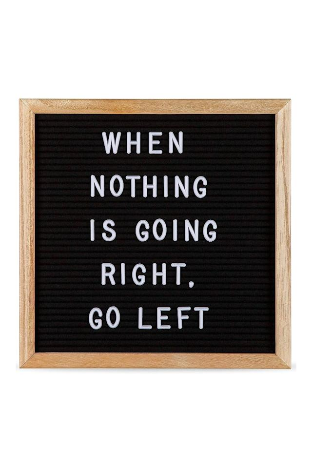 """<p>$12</p><p><a rel=""""nofollow"""" href=""""https://www.amazon.com/Letter-Board-Momentum-Home-Letters/dp/B072MLF574/"""">SHOP NOW</a></p><p>Every teenager girl needs a letter board she can personalize for her Instagrams.</p>"""