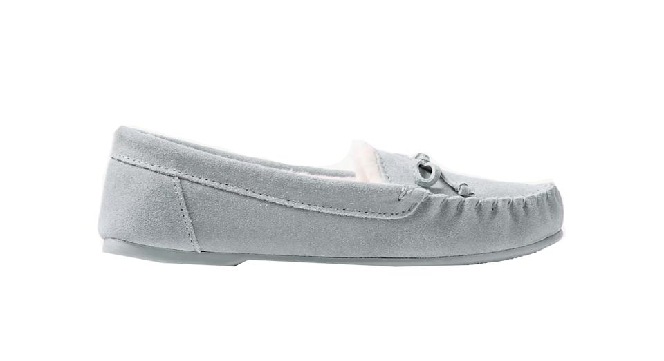 Suede Moccasin Slippers with Freshfeet