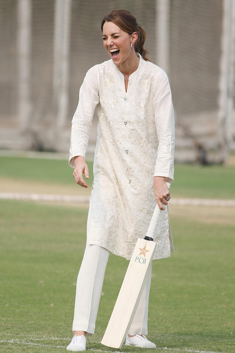 Kate wore a traditional outfit by a Pakistani designer. [Photo: Getty]