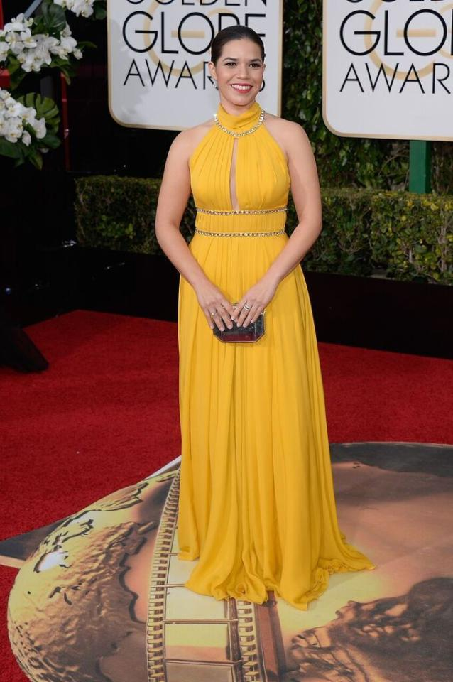 Best: America Ferrara in yellow Jenny Packham at the 73rd Annual Golden Globe Awards.