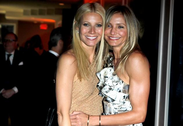 Gwyneth Paltrow and Cameron Diaz attend the 2011 Vanity Fair Oscar Party Hosted by Graydon Carter at the Sunset Tower Hotel on February 27, 2011 in West Hollywood, Calif. -- Getty Premium