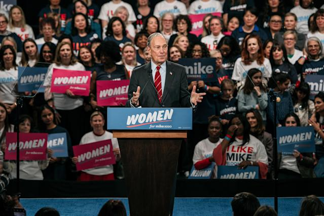 "Mike Bloomberg initiates the ""Women For Mike"" outreach campaign, Jan. 15, 2020. (Photo: Scott Heins/Getty Images)"