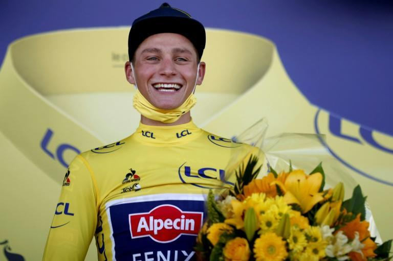 Grandson's pride: Mathieu van der Poel won the yellow jersey and settled a family debt