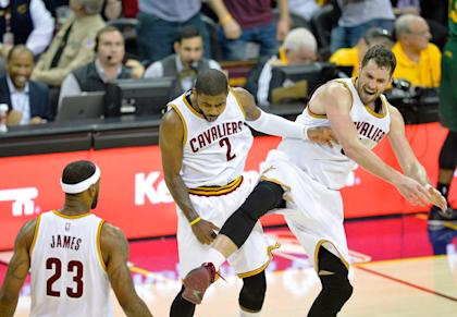 Kyrie Irving, Kevin Love and the Cavs are clicking these days. (David Richard-USA TODAY Sports)