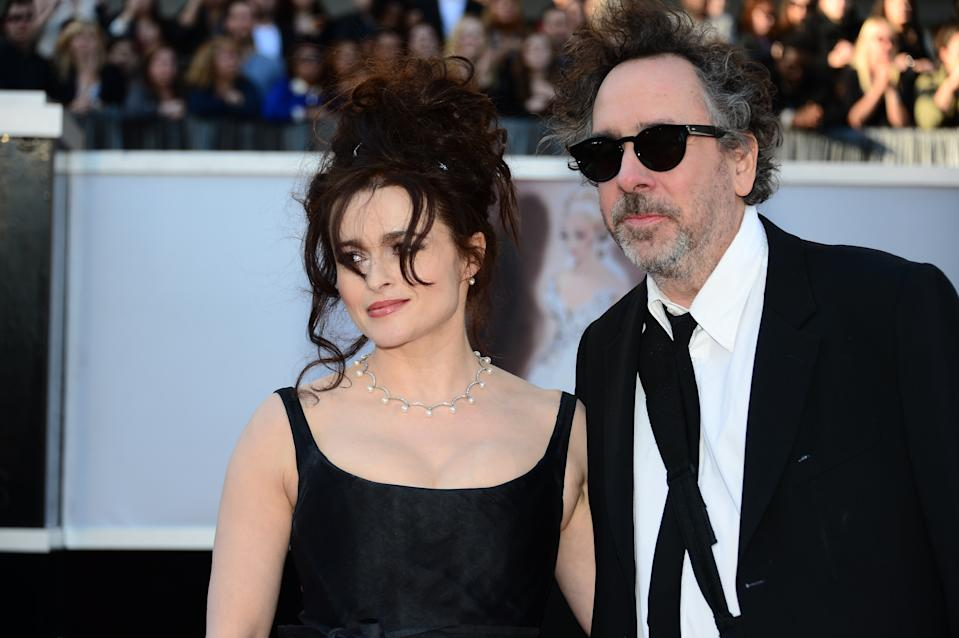 Helena Bonham Carter and Tim Burton arrive on the red carpet for the 85th Annual Academy Awards on February 24, 2013 in Hollywood, California. (AFP/Frederic J. Brown AFP via Getty Images)