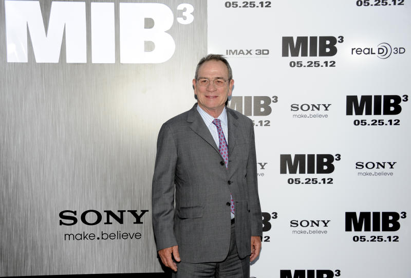 """Actor Tommy Lee Jones arrives at the premiere of """"Men in Black 3"""" at the Ziegfeld Theater on Wednesday May 23, 2012 in New York. (Photo by Evan Agostini/Invision/AP)"""