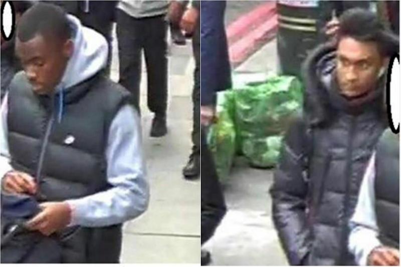 Police would like to speak to two men in connection with the stabbing (Met Police)