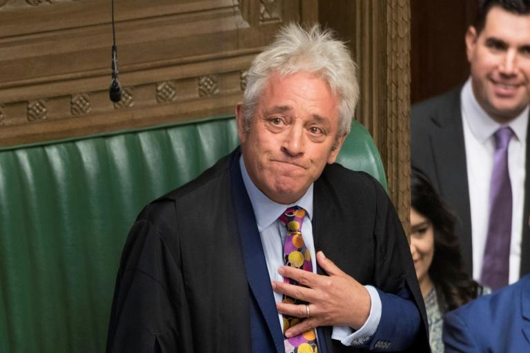 An emotional House of Commons speaker John Bercow announced that he will step down by October 31 at the latest (AFP Photo/JESSICA TAYLOR)