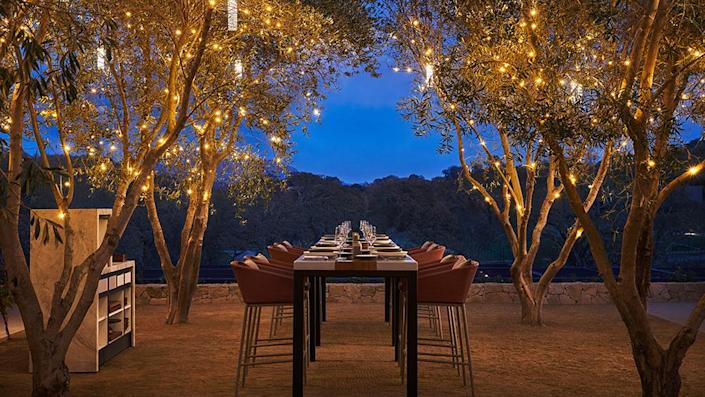 Guests will be treated to a private dinner on an epic terrace. - Credit: Christian Horan