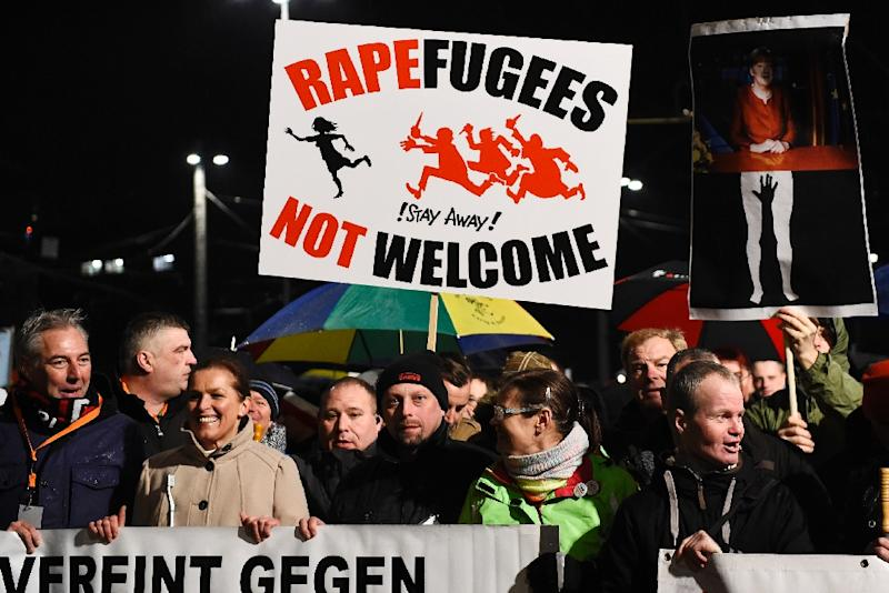 The Cologne sex assaults sparked mass protests and a surge in support for anti-Islam PEGIDA movement (AFP Photo/Tobias Schwarz                  )