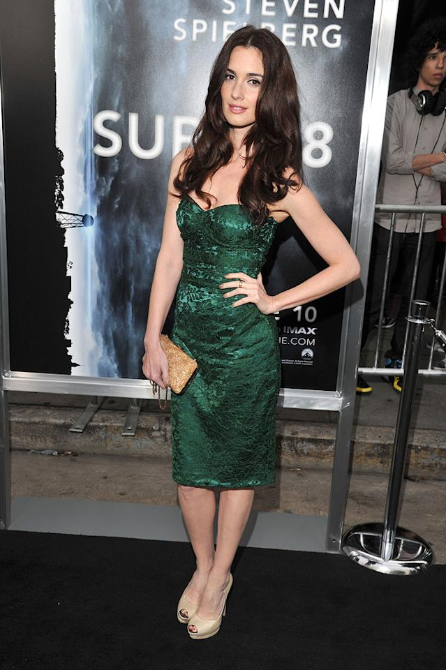 "<a href=""http://movies.yahoo.com/movie/contributor/1807536762"">Paz Vega</a> at the Los Angeles premiere of <a href=""http://movies.yahoo.com/movie/1800063512/info"">Super 8</a> on June 8, 2011."