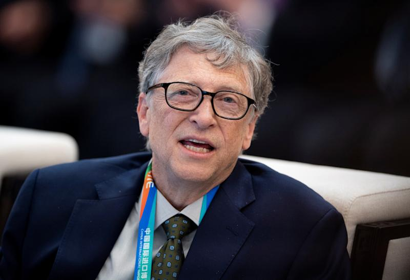 Microsoft founder Bill Gates attends a forum of the first China International Import Expo (CIIE) in Shanghai on November 5, 2018. Matthew Knight/Pool via REUTERS