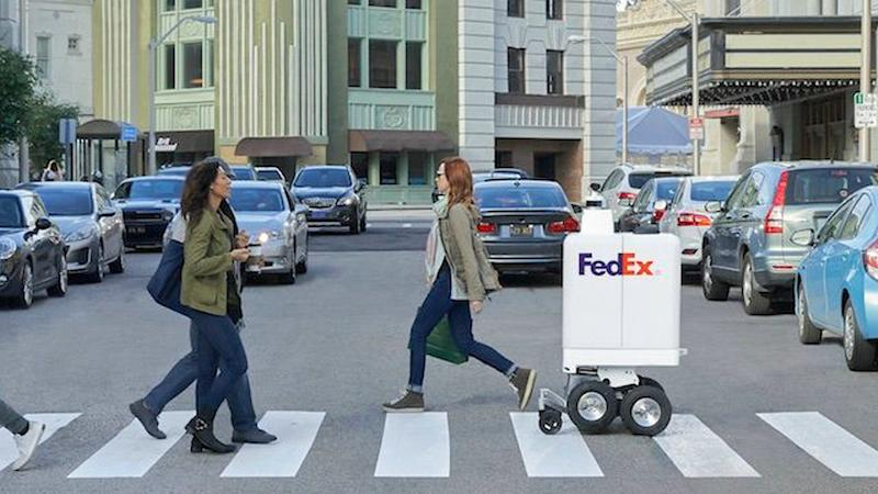 Joining the crosswalk parade (Photo:FedEx)