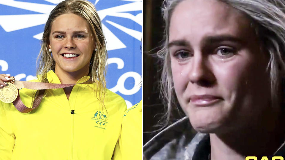 Shayna Jack, pictured here breaking down in tears on SAS Australia.