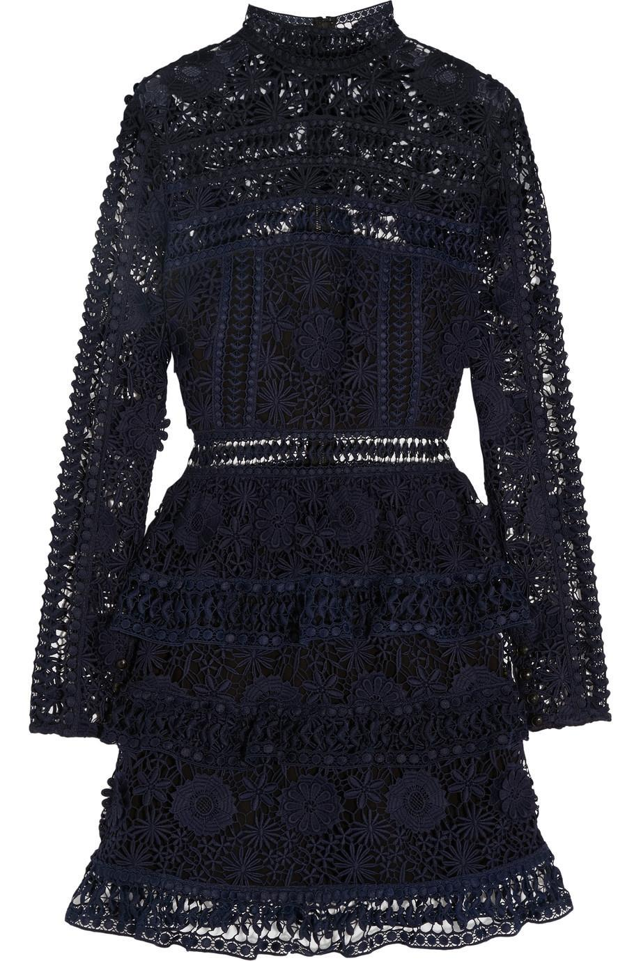 <p>Wonderfully wearable, Self Portrait has become one of the fashion world's hottest brands in the last few years. This long sleeve lace mini dress would make any woman exceedingly happy – trust us. </p>
