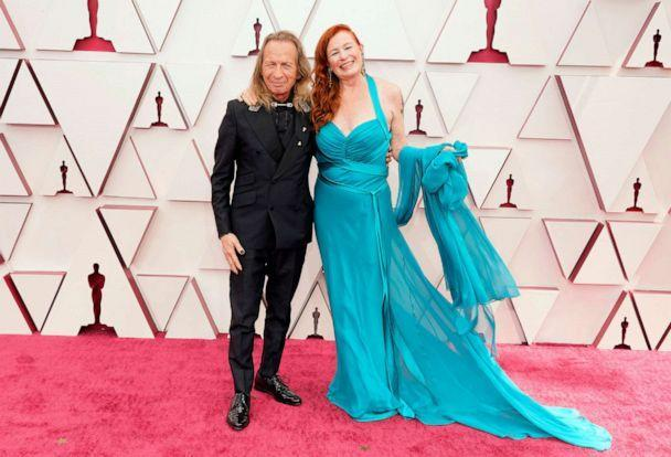 PHOTO: Paul Raci and Liz Hanley Raci attend the 93rd Annual Academy Awards, April 25, 2021, in Los Angeles.  (Chris Pizzello via USA TODAY NET)