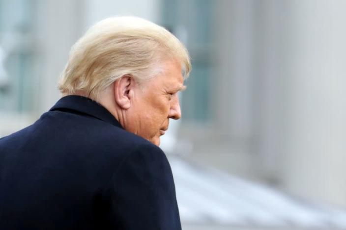 FILE PHOTO: U.S. President Donald Trump departs on travel to West Point, New York from the South Lawn at the White House in Washington
