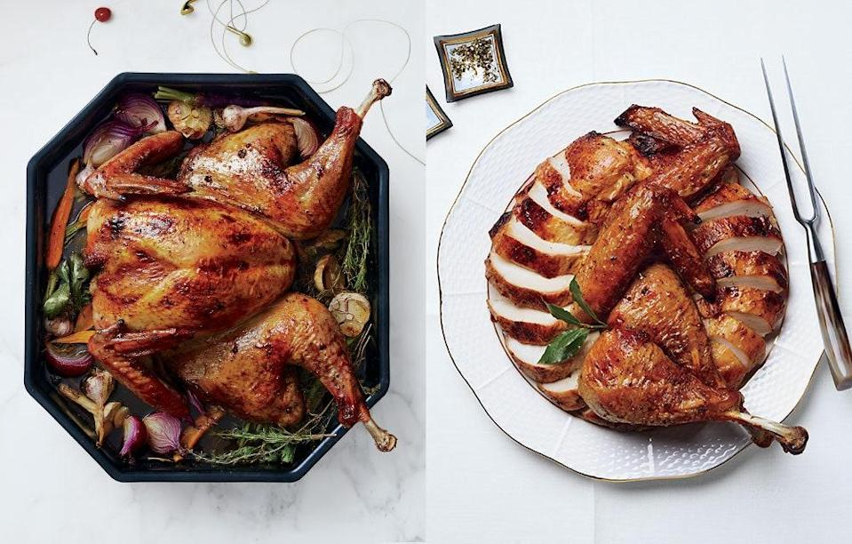 """<a href=""""https://www.bonappetit.com/recipe/spatchcocked-turkey-with-anise-and-orange?mbid=synd_yahoo_rss"""" rel=""""nofollow noopener"""" target=""""_blank"""" data-ylk=""""slk:See recipe."""" class=""""link rapid-noclick-resp"""">See recipe.</a>"""