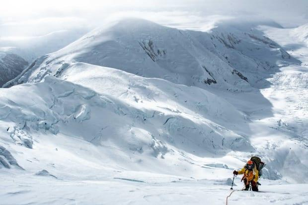 Marceau is seen traversing Mount Steele, en route to Mount Lucania. She said every day of the expedition brought 'something that was just special and unique.'