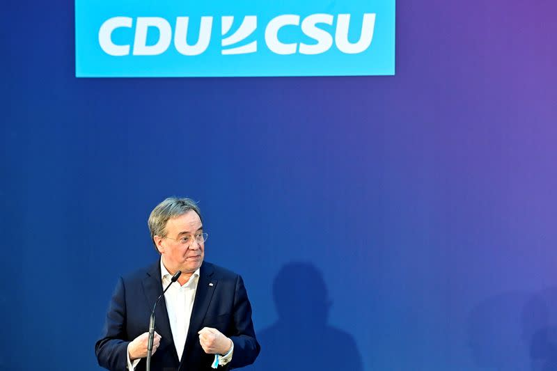 Christian Democratic Union (CDU) and Christian Social Union (CSU) news conference in Berlin