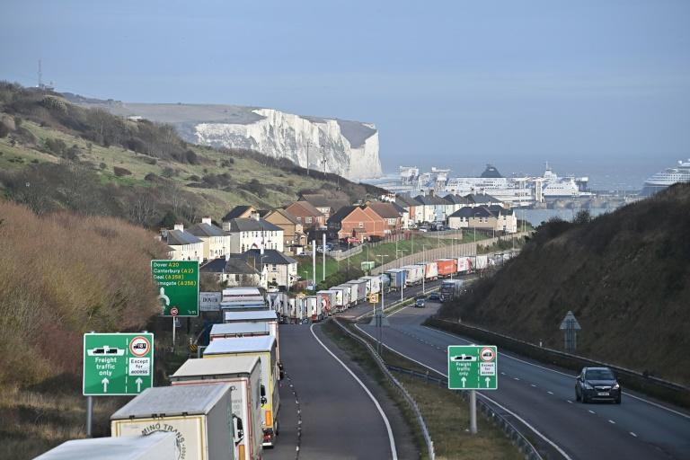 The urgency of reaching a deal is being driven home by scenes of long lines of trucks at the entrance to the freight rail link that goes through the Channel tunnel