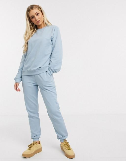 ASOS DESIGN Tracksuit Ultimate Sweat/Jogger with Tie in Organic Cotton