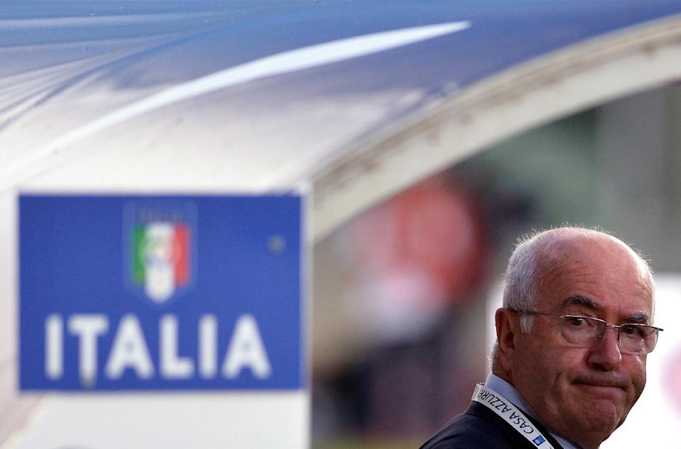 Sacchi's comments come less than three months after FIGC president Carlo Tavecchio (pictured) was barred from holding any position with FIFA for six months over an alleged racist comment he made (AFP Photo/Alberto Pizzoli)