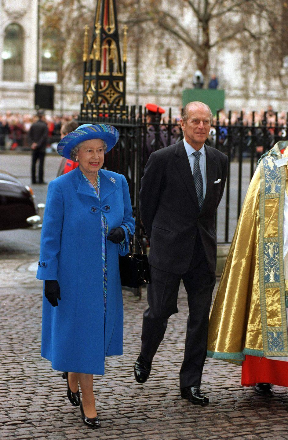 """<p>""""I think the main lesson we have learnt is that tolerance is the one essential ingredient in any happy marriage... You can take it from me, the Queen has the quality of tolerance in abundance,"""" Prince Philip said in a toast to his wife at their golden wedding anniversary celebration that November.</p>"""