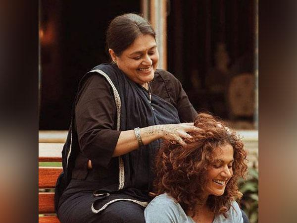 Supriya Pathak and Taapsee Pannu in a still from movie 'Rashmi Rocket' (Image Source: Instagram)