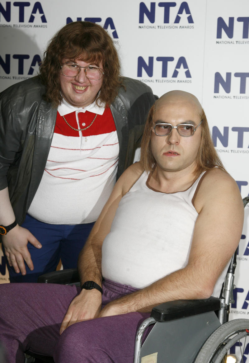 David Walliams and Matt Lucas in the press room at the 2007 National Televsision Awards (NTA's) at the Royal Albert Hall, west London.