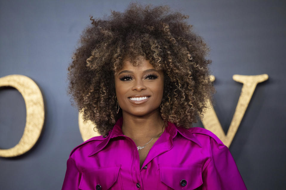 Fleur East poses for photographers upon arrival at the world premiere of the film 'Downton Abbey' in London, Monday, Sept. 9, 2019. (Photo by Vianney Le Caer/Invision/AP)