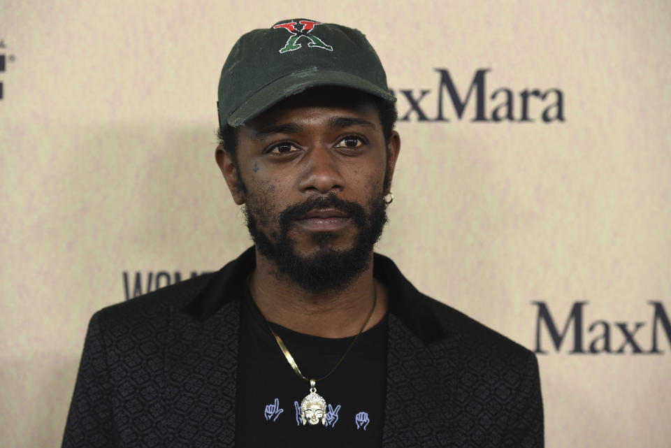 Lakeith Stanfield arrives at the Women in Film Annual Gala on Wednesday, June 12, 2019, at the Beverly Hilton Hotel in Beverly Hills, Calif. (Photo by Chris Pizzello/Invision/AP)