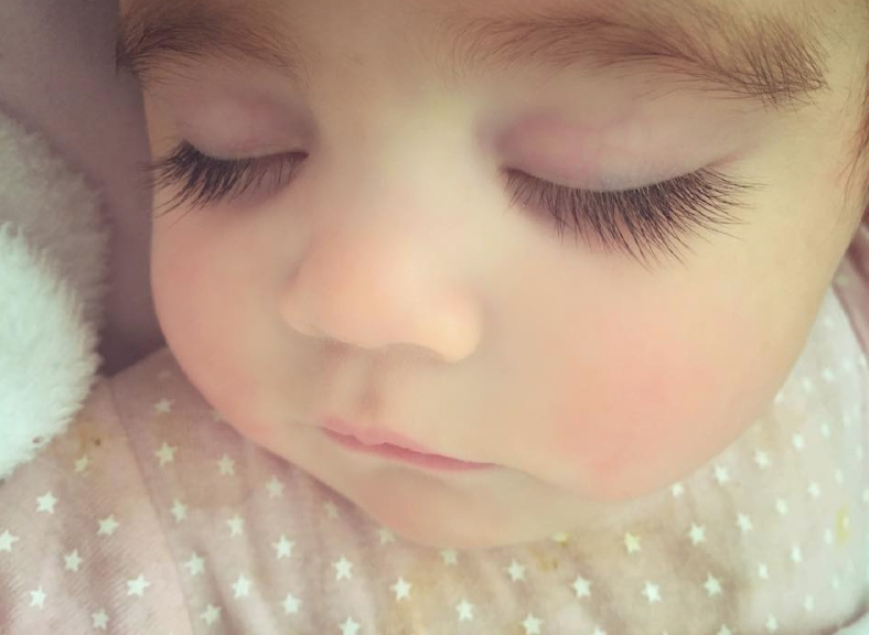 Even Egypt's eyelashes have become a popular meme. Photo: LIttle Miss Egypt Facebook