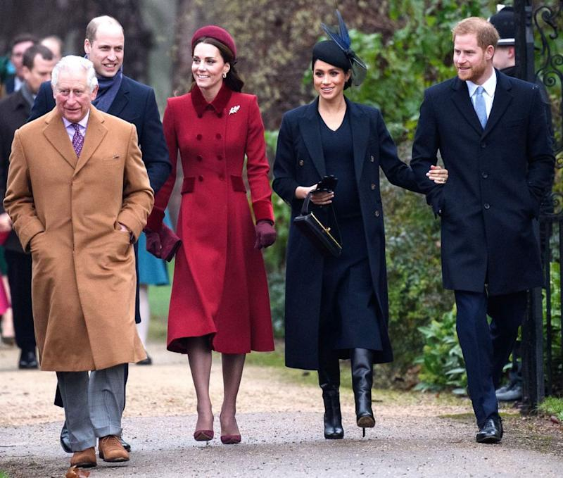 The royal family on Christmas Day in 2018 | Tim Rooke/REX/Shutterstock