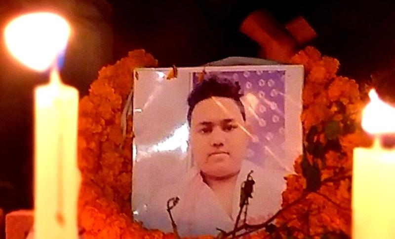 File image of Sam Stafford killed in firing during Assam protests. Image courtesy: Niloy Bhattacherjee