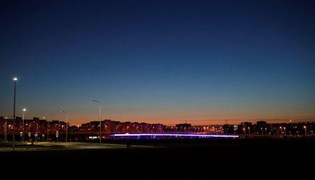 General view of the city after sunset, in Kaliningrad, Russia, June 28, 2018. REUTERS/Kacper Pempel