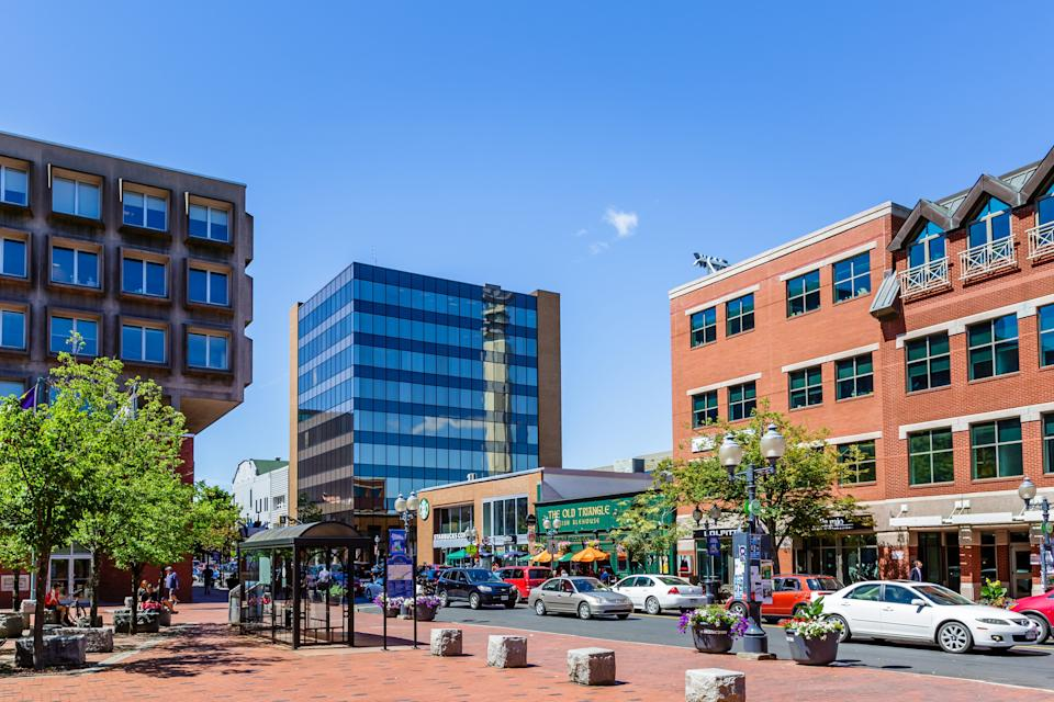 Downtown Moncton, N.B. is seen in an undated file photo. The city ranks at the top of the latest Labour Market Report Card from RBC. (Photo: Khanh Ngo Photography via Getty Images)