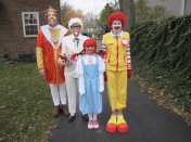 """<p>Ronald McDonald, Wendy's, the King, and Colonel all showed up.</p><p>Get more costume inspo from <a href=""""http://chairsfromthecurb.blogspot.com/2012_10_01_archive.html"""" rel=""""nofollow noopener"""" target=""""_blank"""" data-ylk=""""slk:Chairs From the Curb"""" class=""""link rapid-noclick-resp"""">Chairs From the Curb</a>.</p>"""