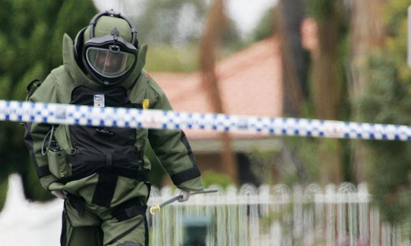 A bomb disposal officer