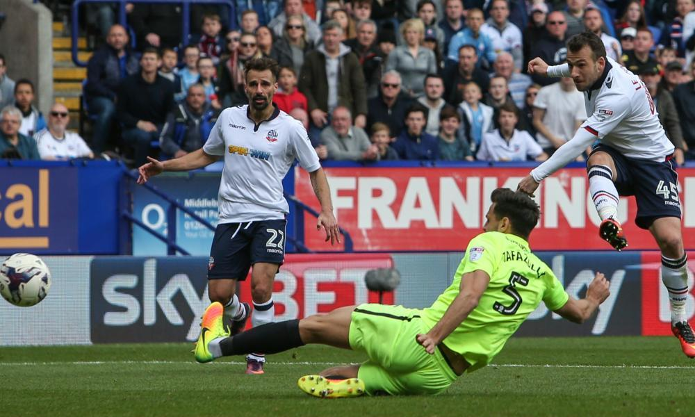 Adam le Fondre seals Bolton's win over Peterborough to secure promotion