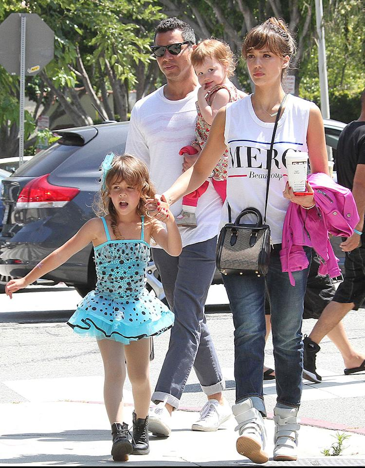 51125285 Actress Jessica Alba, her husband Cash Warren, and daughter Haven go to watch their daughter Honor's ballet recital then afterwards, the family went to have some lunch in Los Angeles, California on June 9, 2013. FameFlynet, Inc - Beverly Hills, CA, USA - 1 (818) 307-4813