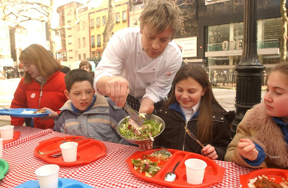Jamie Oliver revealed he was constantly spat at during his school dinners campaign in 2005. (Andy Butterton/PA Images/Getty Images)