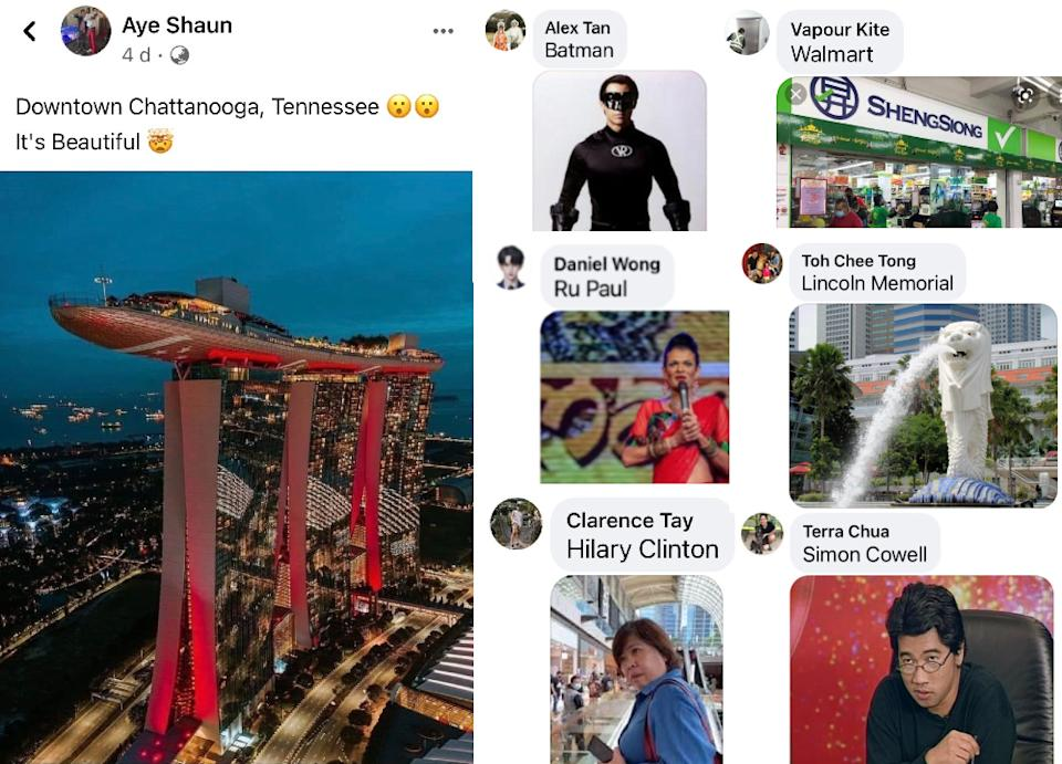 American Facebook user Aye Shaun spawned viral memes among Singaporeans by saying that Marina Bay Sands is in downtown Chattanooga in Tennessee.