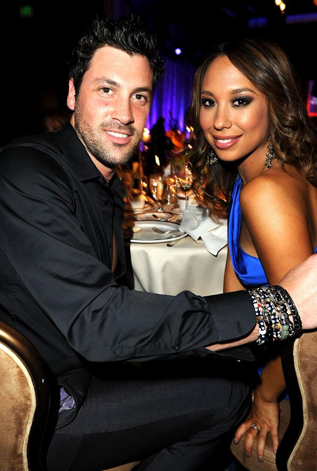 """<b>Maksim Chmerkovskiy & Cheryl Burke</b><br><br>According to a May 2011 Us Weekly cover story, old friends Maksim Chmerkovskiy and Cheryl Burke have been dating off and on for the last two years. Over Memorial Day weekend, photos emerged that appeared to depict Maks and Cheryl kissing at the Palms in Las Vegas. Both pros denied that they were dating, with Cheryl telling <a href=""""http://www.people.com/people/article/0,,20500188,00.html"""">People</a>, """"We have that brother and sister relationship."""" They are currently both single: Maks tried but did not find love on """"The Bachelor: Ukraine"""" earlier this year; Cheryl admitted to having a fling with her Season 10 partner, Chad Ochocinco, but then he went off to seek true love on his own dating show, """"<a>The Ultimate Catch</a>."""""""
