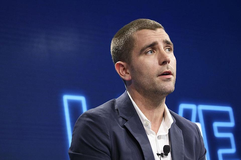 "Christopher ""Chris"" Cox, chief product officer of Facebook Inc., speaks during the WSJDLive Global Technology Conference in Laguna Beach, California, U.S., on Tuesday, Oct. 25, 2016. The conference brings together an unmatched group of top CEOs, founders, pioneers, investors and luminaries to explore tech opportunities emerging around the world. Photographer: Patrick T. Fallon/Bloomberg via Getty Images"